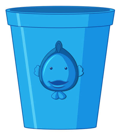 A blue plastic container illustration