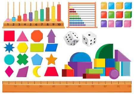 Ensemble d'illustration d'objet mathématique