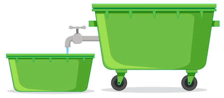 Isolated water container on white background illustration Banque d'images - 124746053