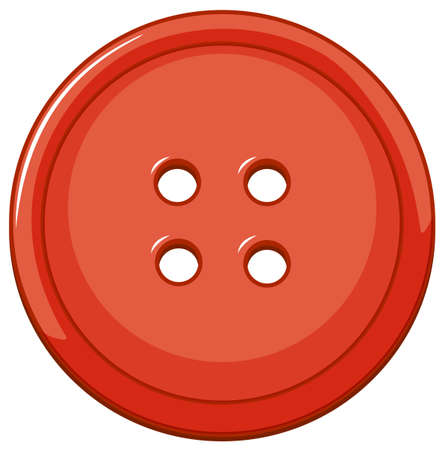 Isolated red button on white background illustration 일러스트