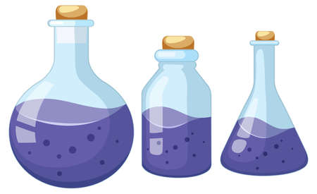 Science container on white background illustration