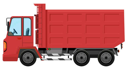 An isolated red truck illustration Illustration
