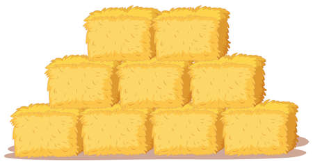 Isolated stack of straw illustration