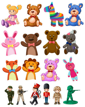 Set of children toys illustration