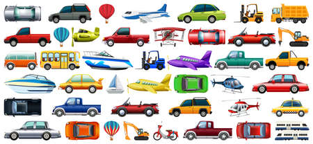 large set of transport illustration Ilustração