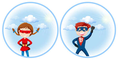 A super hero character illustration Stock Illustratie