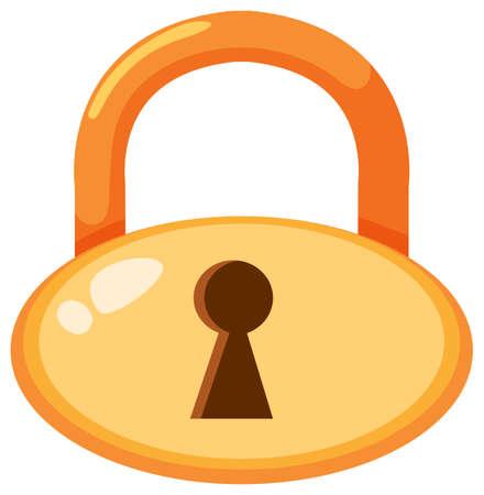 Circular Golden Lock With Keyhole illustration Vector Illustratie