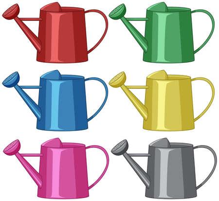 arrosoirs pour illustration de jardinage