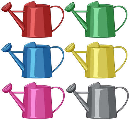 watering cans for gardening  illustration 矢量图像