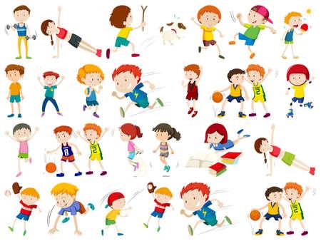 Set of sport character illustration