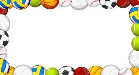 Ilustracja ramki piłki sportowej
