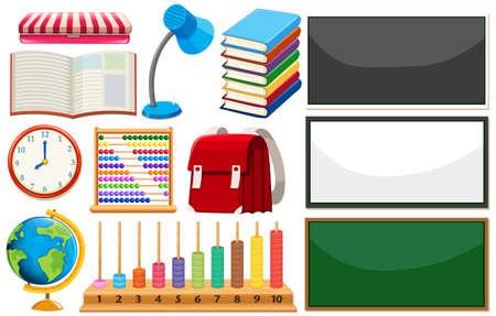Ensemble d'illustration d'élément d'apprentissage