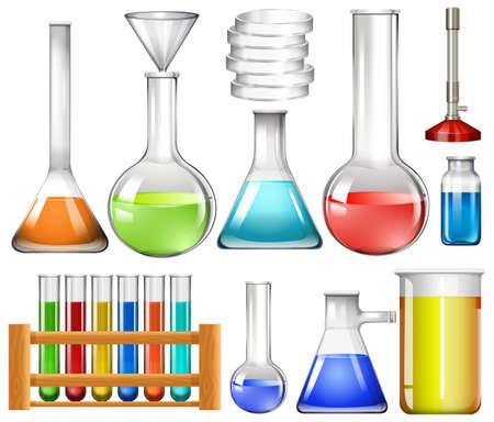 Ensemble d'illustrations d'outils de laboratoire Vecteurs