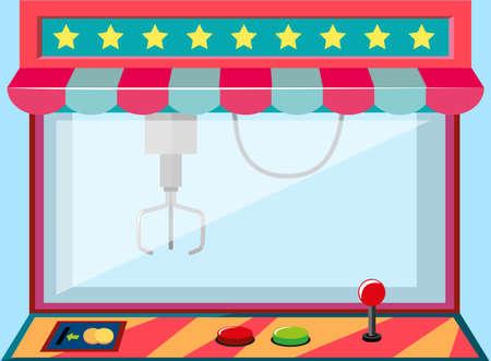 A claw crane machine game Illustration