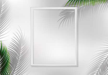 A nature leaf frame illustration