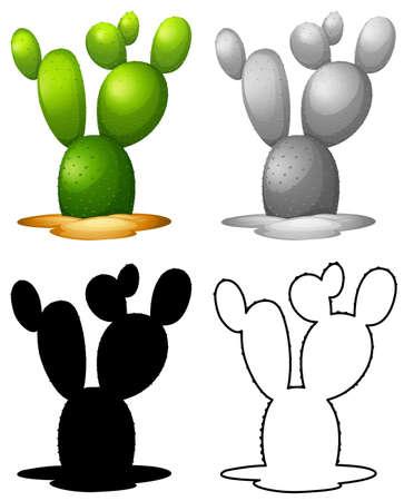 Set of nature cactus  illustration Фото со стока - 122621090