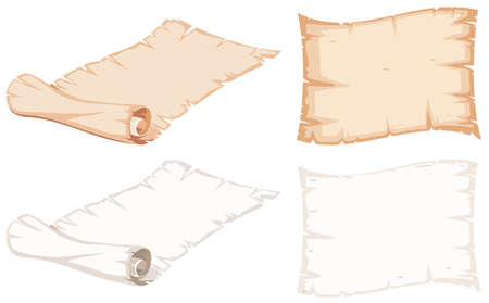 Set of paper roll illustration