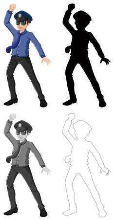 Set of male office worker illustration Ilustrace