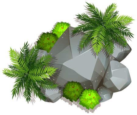 An isolated nature rock  illustration Reklamní fotografie - 123189258