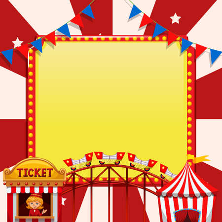 A circus note template illustration Vector Illustration