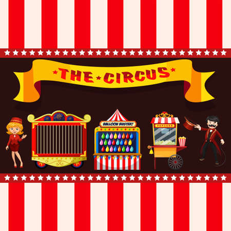 Circus concept with stalls