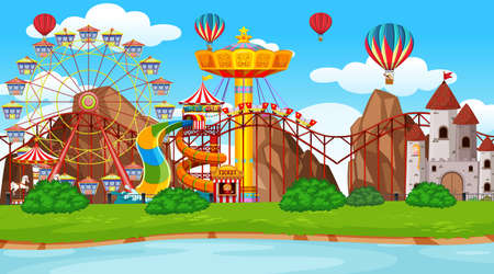 Large amusement park scene