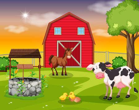 Una escena de tierras de cultivo rural.