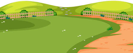 Park with path foreground illustration Stock Illustratie