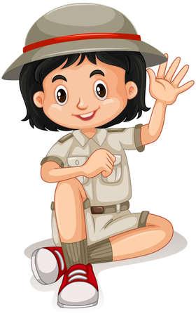 Cute happy smiling child isolated on white background illustration Illustration