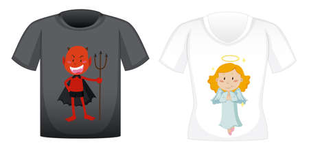 T-shirt design with graphic in front illustration