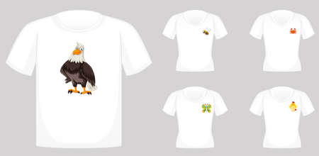T-shirt design with animal graphics illustration