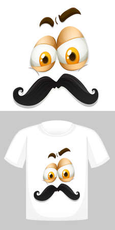 T-shirt design with graphic in front illustration Standard-Bild - 129244914
