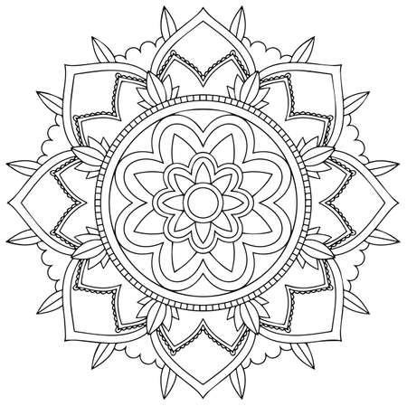 Mandala pattern design on white background illustration Stock Illustratie