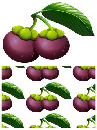 Seamless design pattern isolated on white illustration