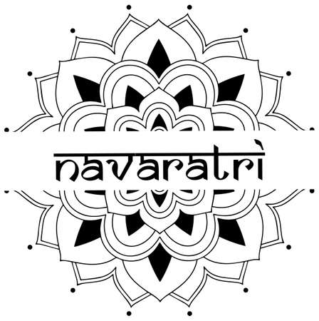Poster design for Navaratri with mandala pattern illustration