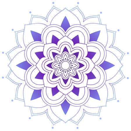 Mandala pattern design in purple color illustration
