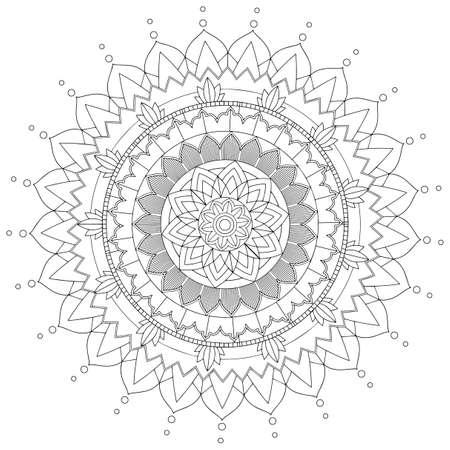 Mandala pattern design on white background illustration  イラスト・ベクター素材