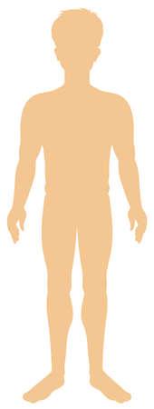 Silhouette human man on white background illustration