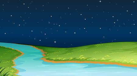 Nature scene landscape template  illustration