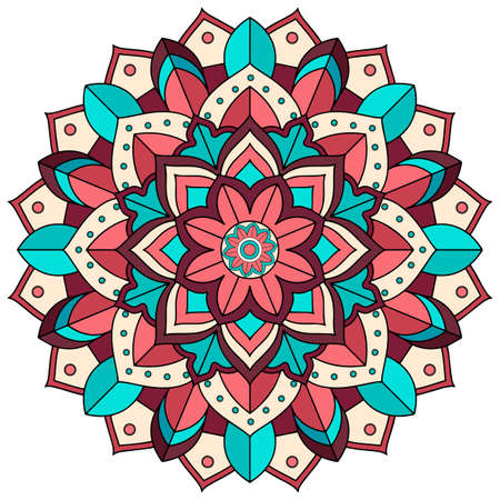Mandala pattern design on white background illustration Stock Illustratie
