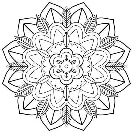 Mandala pattern design on white background illustration Ilustração