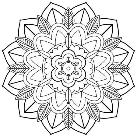 Mandala pattern design on white background illustration Illustration