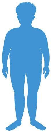 Silhouette human body on white background illustration