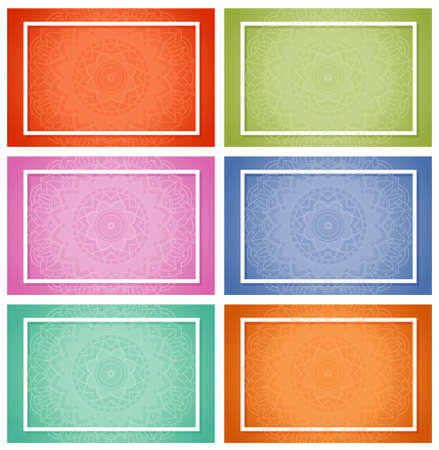 Background templates with mandala patterns illustration