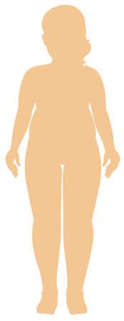 Silhouette human female on white background illustration 向量圖像