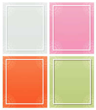 Four backgrounds with mandala patterns illustration Illustration