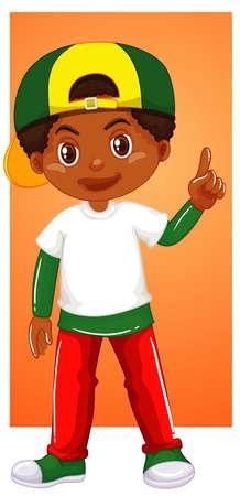 Happy boy wearing hat illustration Illusztráció