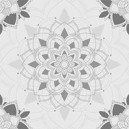 Mandala patterns on gray background illustration