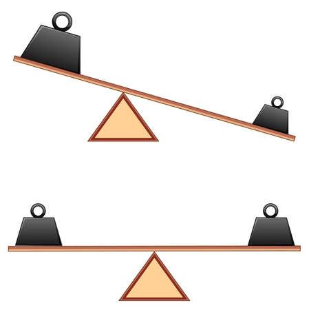 Diagram showing weigh on beams illustration Illusztráció