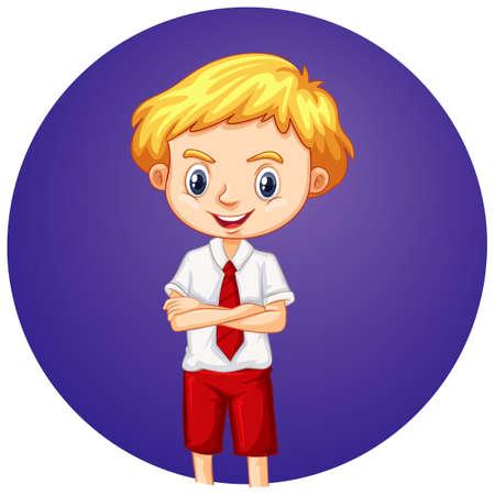 Cute boy on round background illustration Illusztráció